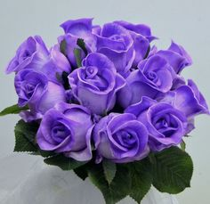 WEDDING BOUQUET BRIDESMAID LATEX REAL TOUCH PURPLE ROSE POSY ROSES FLOWERS