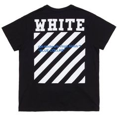 "Oversized black t-shirt featuring a large white 'WHITE' and stripes print with a blue ""Blue Collar"" print on back.   Price: 1.39900 DKK  http://ift.tt/1PuFmkG - Storm Copenhagen"