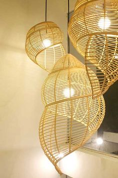 BANYAKARTS lights by Jitrin are fun and a great reminders of the beach and shells