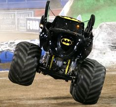 A monster truck is a vehicle that is typically styled after pickup trucks' bodies, modified or purposely built with extremely large wheels and suspension. They are used for competition and popular sports entertainment and in some cases they are featured alongside motocross races, mud bogging, tractor pulls and car-eating robots.