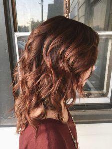 Cute Light Auburn Red Hair Color