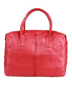 Take a look at this Made in Italia Ruby Red Alba Shoulder Bag on zulily today!