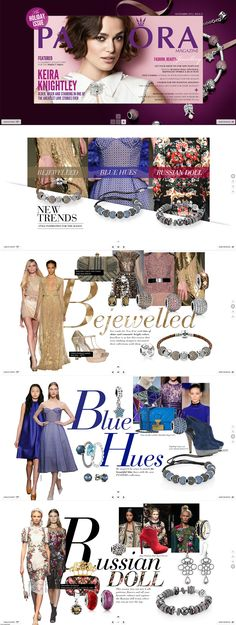 Pandora Magazine. Layout design. Fashion e-commerce inspiration. Jewelry