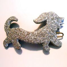 '60s Glitter Dachshund Barrette, $34, now featured on Fab.
