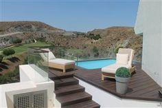 Solsenge og mini-pool med uforlignelig udsigt! Los Flamingos # Marbella www.feriebolig-spanien.dk/18797