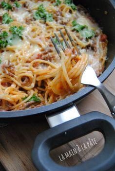 spaghettis à la viande hachée