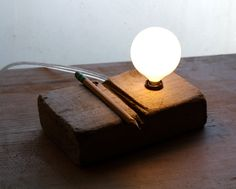 anzer farms reclaimed wood lamp