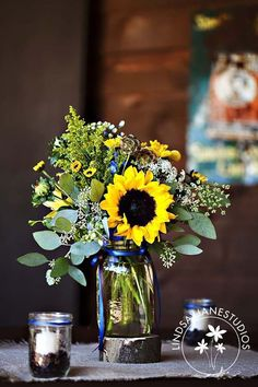 Sunflower Wedding Decor Ideas ❤ See more: http://www.weddingforward.com/sunflower-wedding-decor-ideas/ #weddings