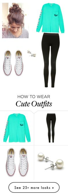 """Winter school day outfit"" by sarahneilon-1 on Polyvore featuring Victoria's Secret, Topshop and Converse"