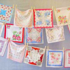 This use of hankies couldn't be any easier or adorable.