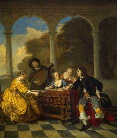 active in Amsterdam and, after 1660, in Paris - -  TICMUSart: Concert - Jacob van Loo (1652) (I.M.)