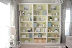 """""""Built In"""" IKEA Billy bookcases"""
