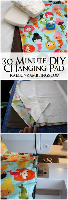 Free pattern at Rae Gun Ramblings - Don't settle for a bulky changing pad. Use this free pattern and baby changing pad tutorial to make a washable simple changing pad. Baby Sewing Projects, Sewing Projects For Beginners, Sewing For Kids, Sewing Crafts, Diy Projects, Baby Sewing Tutorials, Sewing Ideas, Diy Tapis, Baby Gifts To Make