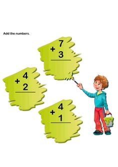 Learn to Add Numbers Worksheets, Math Worksheets for Kids, Number Addition Worksheets. Free Math Worksheets for Kids.