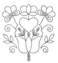 Mania Dziergan (e) a: ricamo da Schwalm. Embroidery Pattern. jwt