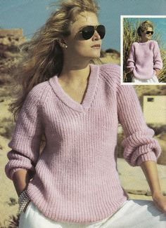 Knitting Pattern Ladies V Neck Jumper : Vintage Knitting Pattern Instructions to Make a Ladies Cape DK 1940s/195...