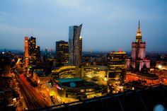 Warsaw City Lights
