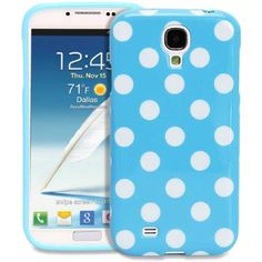 Amazon.com: Fosmon DURA Series SLIM-Fit Case Protective Skin Cover for Samsung Galaxy S IV S4 SIV / I9500 - Polka Dots (Blue): Cell Phones &...