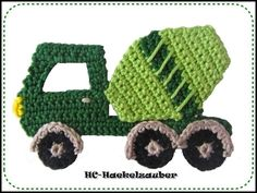 Hand crocheted truck ca .: x I'm completely satisfied to crochet this in your required coloration, this simply depart a brief message when shopping for. Crochet Applique Patterns Free, Crochet Motif, Crochet Flowers, Crochet Stitches, Free Crochet, Crochet Appliques, Crochet Car, Crochet For Boys, Crochet Toys
