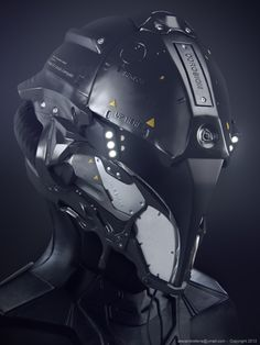 Space Helmet - Mecha & Futuristic Design by Alexandre Ferra cyborg, android, robot Futuristic Helmet, Futuristic Armour, Futuristic Design, Futuristic Motorcycle, Futuristic Technology, Cyberpunk, Science Fiction, Zbrush, Rude Mechanicals