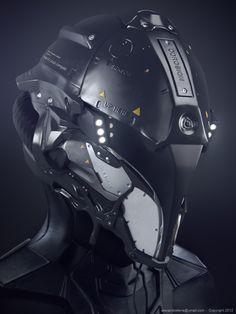 #3D #characters #design Space Helmet - Mecha & Futuristic Design by Alexandre Ferra