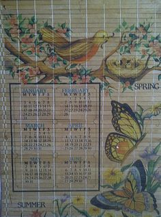 Vintage Bamboo Calendar Lovely Nature Theme 1983 by maggiecastillo, $13.00