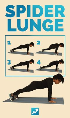 Spider Lunge | The Only 12 Exercises You Need To Get In Shape