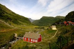 Often regarded as one of the world's greatest train journeys, the Bergen Line runs between Oslo and Bergen in Norway. Description from plumdeluxe.com. I searched for this on bing.com/images