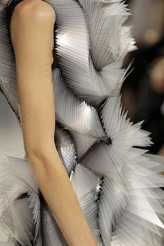 Dutch designer Iris Van Herpen's definition of haut couture (F/W 2012). She collaborated with Belgian company Materialise NV for the 3D printing components.