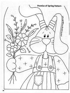 Risco, coelho, pascoa, artesanato, pintura de tecido, modelo.