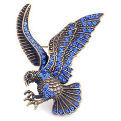 Vintage Style Sapphire Blue Eagle Pin Brooch Fantasyard. $10.59. Gift box available for an additional fee. Please check out through gift-wrap option. Exquisitely detailed designer style. Other color available
