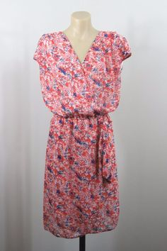Size XL 16 Ladies Dress Floral Vintage Boho Chic Feminine Peasant Festival Style #HotOptions #Sundress #Casual