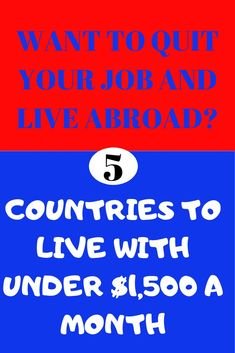 Want to quit your job? Listed are 5 countries to live with under $1,500 a month. //cheap countries to live in //cheap countries to visit Honeymoon Destinations All Inclusive, Vacations To Go, Travel Destinations, Travel Tips, Overseas Adventure Travel, Best Vacation Spots, Vacation Ideas, List Of Jobs, Countries To Visit