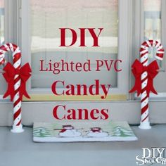 Outdoor Lighted Candy Canes: DIY Show Off. Candy Cane ...,Lighting