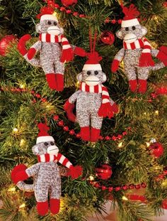 Crochet Sock Monkey Ornament for 2013 Christmas