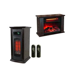 LifeSmart LifePro 1500 Sqft Infrared Heater w/ Mini Fireplace Heater
