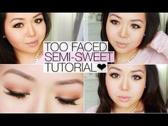 ▶ Romantic Date Night Makeup ♥ Too Faced Semi-Sweet Chocolate Bar Palette - YouTube
