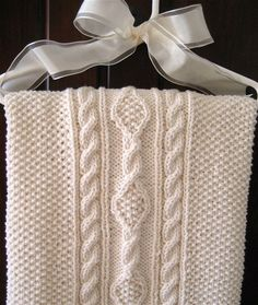 """Irish Knit Baby Blanket, """"For A Bonny Babe"""" from Our Best Knit Baby Afghans, Leisure Arts."""