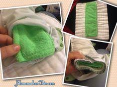 DIY Dollar Store Microfiber Cloth Diaper Inserts #DIYclothdiapers #clothdiapers #dollarstorecrafts