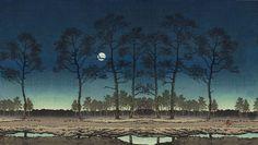 (Computer wallpaper) 'Field of Toyama' or 'Moon over Toyama Plain' by Hasui Kawase | Flickr - Photo Sharing!