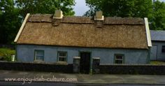 Irish cottage at the roadside at Kinvara, County Galway, Ireland. Click on the image to see our whole album of thatched Irish cottages in our neighbourhood on our Facebook page.