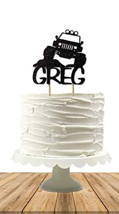 Personalised Land Rover 4WD 02 pre-cut Edible Icing Cake Topper or Ribbon