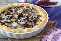 Savory pie with radicchio and sausage – backen Strudel, Quiches, Pizza, Muffins, Secret Recipe, Savoury Dishes, Antipasto, Soul Food, Street Food