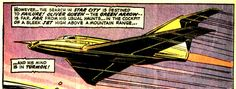 The Arrow-Plane was Green Arrow's personal customized jet. Its appearance and design is similar to the Batplane, but with an arrow motif. The jet, like many of Green Arrow's gadgets, did not last long and has had various upgrades and re-designs. The Arrow-Plane was destroyed when Green Arrow accidentally killed a man, leading to him temporarily ending his vigilante career. He purposely crashed the plane on a remote mountain range, ejecting just before impact, and walked to the Ashram....