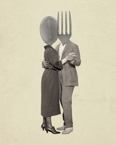 Slow Dancing Utensils Spoon and Fork 8x10 Print. Totally Want
