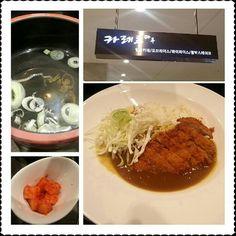 """안양 롯데평촌점 지하1층 식당가에 있는 """"카레루마루"""" 매운 일본카레 전문점에서 열나는 맛(순한,열나는,불나는 맛 3종)[5,500]카레에 돈까스[3,000]를 토핑! 맛은 일본식 카레에 가까우며 금방 튀긴 것 같은 돈까스가 바삭해서 굿!"""