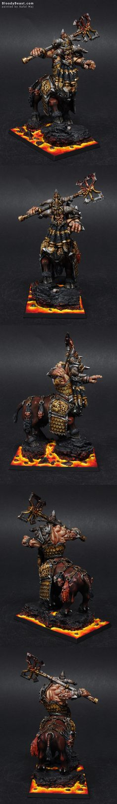 First thing I would like to say about this model is that it has a lot of metal areas. I've chosen to make old steel and old gold. I like that combination. This mini also has a lot of dead heads. Fu...