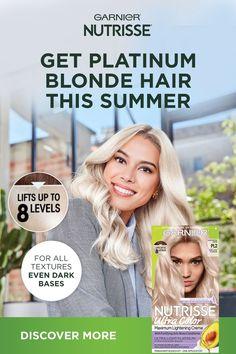 Perfect Hair Color, Cool Hair Color, Hair Colors, White Blonde Hair, Platinum Blonde Hair, Medium Hair Styles, Curly Hair Styles, Bleaching Your Hair, Ag Hair Products