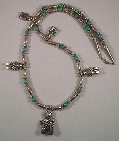 Southwestern Sterling Silver Storyteller Mother Figures Necklace
