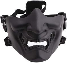 Tactical Clothing, Tactical Gear, Halloween Cosplay, Halloween Masks, Halloween Outfits, Airsoft Face Mask, Oni Mask, Evil Demons, Half Face Mask